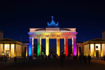 Brandenburg Gate in Death Strip, Berlin.