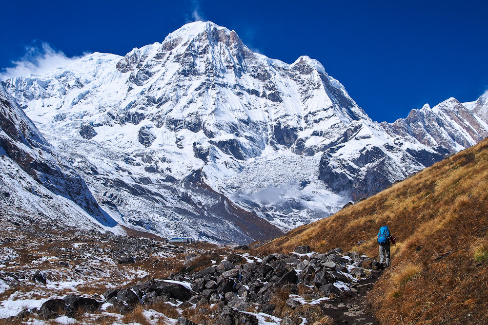 Annapurna in Nepal, ranked #46 in our countdown of '100 Ultimate Travel Experiences of a Lifetime'.