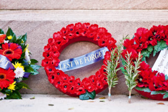 Commemorating ANZAC Day overseas.