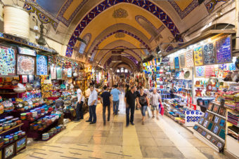 The Grand Bazaar in Istanbul, ranked #60 in our countdown of '100 Ultimate Travel Experiences of a Lifetime'.