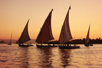 Sailing down the river Nile in Egypt, ranked #92 in our countdown of '100 Ultimate Travel Experiences of a Lifetime'.