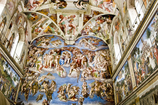 The Sistine Chapel in the Vatican City, Rome.