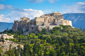 The Acropolis in Athens, ranked #78 in our countdown of '100 Ultimate Travel Experiences of a Lifetime'.