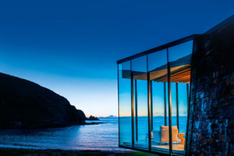 The 'Seapscape' villa at the luxurious Annandale retreat, with its very own bay south of Christchurch.