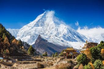 Himalayas mountain landscape in Nepal.