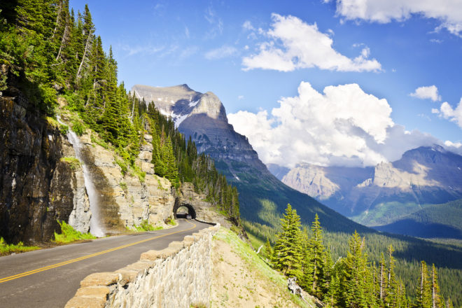 Going to the Sun Road in Montana, USA.