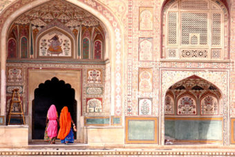 The magnificent Amber Fort, near Jaipur.