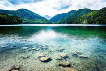Shallows in Alpsee, Germany.