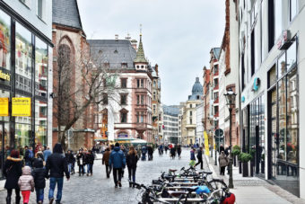 The charming historical centre of Leipzig, Germany.