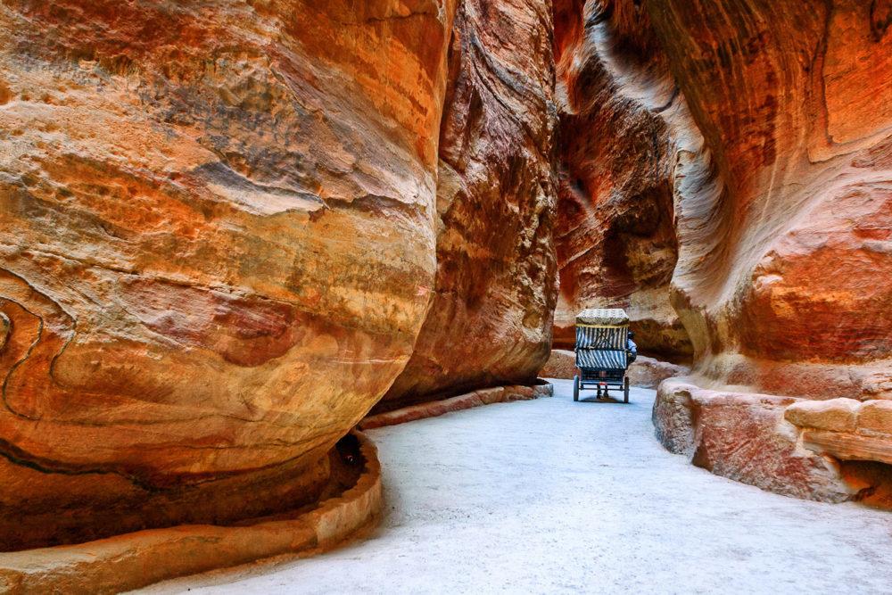 The Siq in Petra, Jordan.