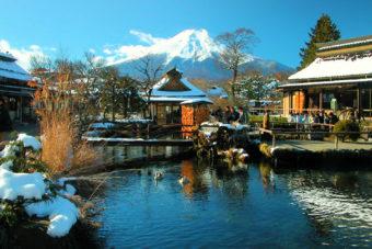 Thepicturesque village Oshino Hakkai in Japan.