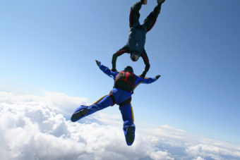 Sky diving in Taupo, NZ