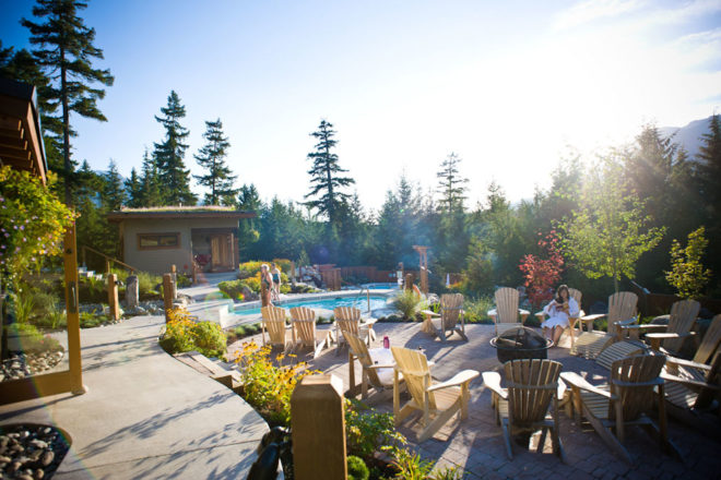 Luxury experience at Scandinave Spa in Whistler