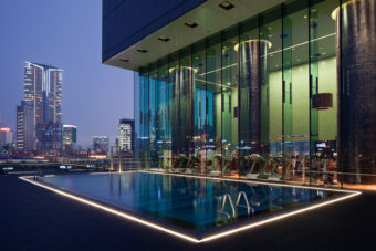 Pool views Hotel Icon Hong Kong