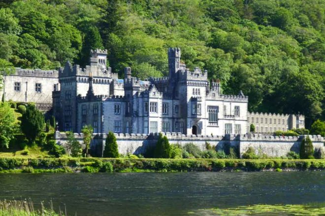Kylemore Abbey on the shores of Pollacapall Lough, Ireland