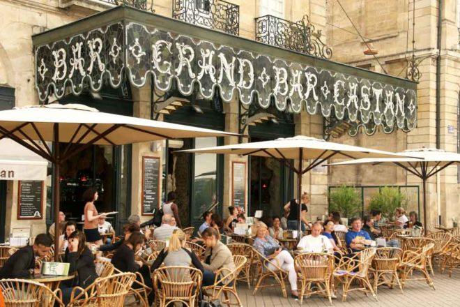 Bourdeux outdoor cafe