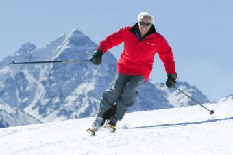 Klaus Obermeyer skiing Aspen