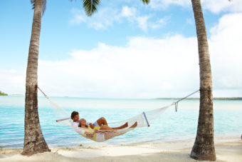 The beautiful, picturesque scenery of the Cook Islands