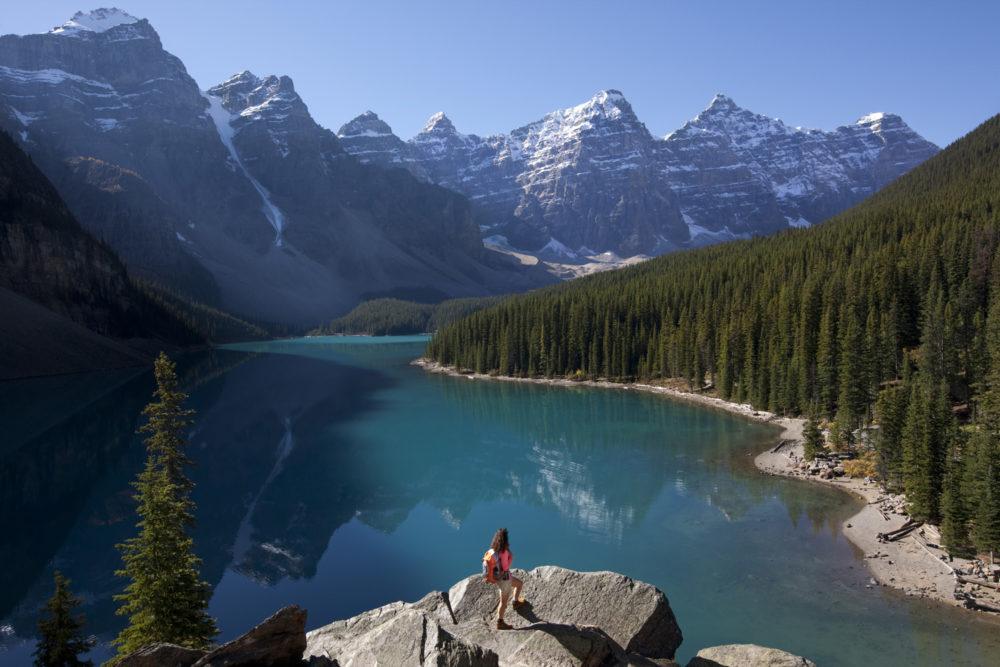 Moraine Lake near Banff, Alberta.
